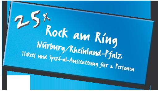 Gewinn: 25x Tickets für Rock am Ring 2018 inkl. Ausrüstung