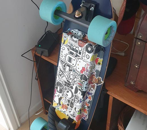 Spezi Longboard-Umbau
